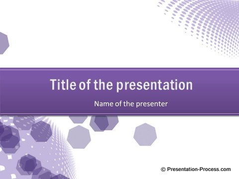 Free PowerPoint Title Set Purple