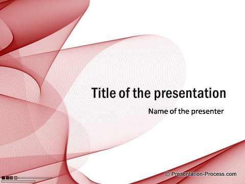 Red PowerPoint Title Template free for download