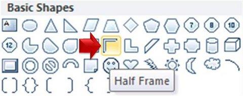 Half Frame Menu