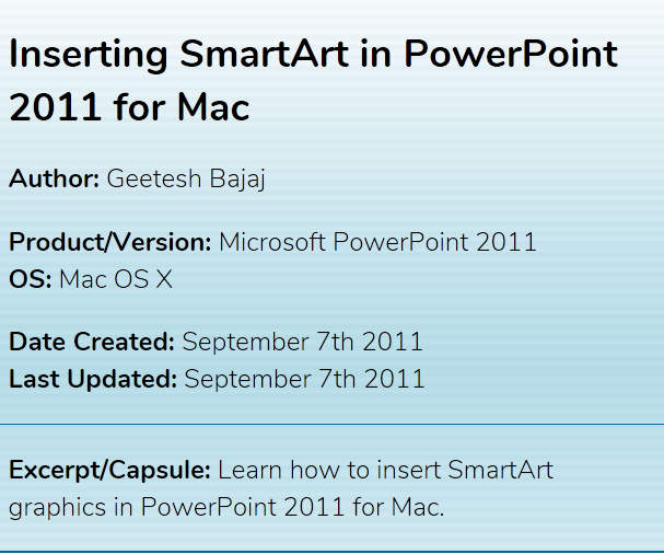 SmartArt tutorials for PowerPoint on Mac