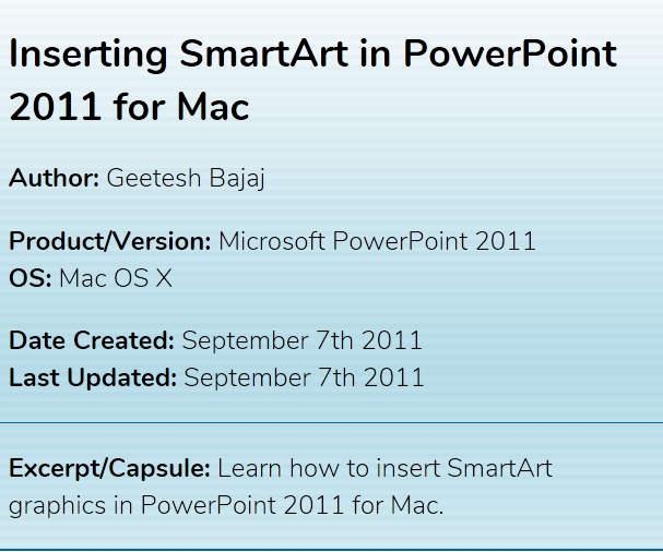 SmartArt tutorials for PowerPoint on Mac