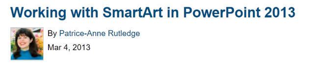 Tutorials on SmartArt Modification