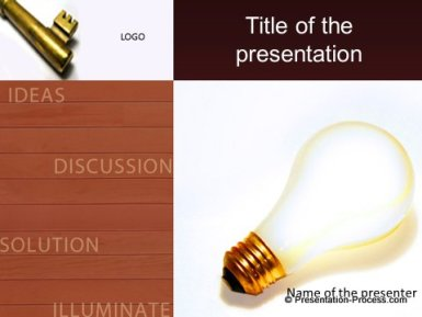Key Business Idea Title Slide