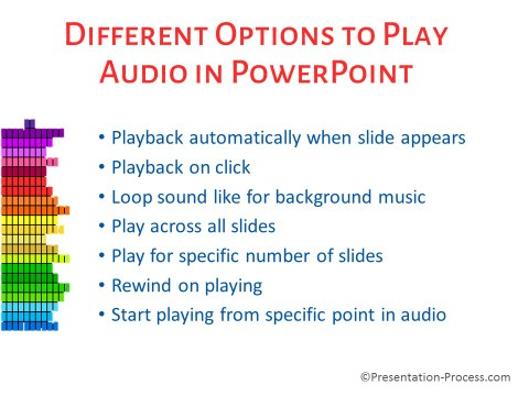 Options to Play Audio Infographic