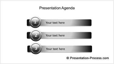 Professional PowerPoint Agenda