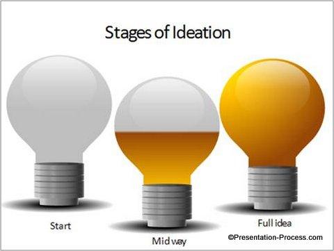 PowerPoint Bulb Diagram template
