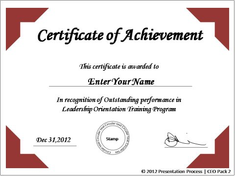 Create printable certificates in powerpoint in a jiffy yadclub Images
