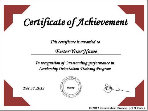 Create printable certificates in powerpoint in a jiffy toneelgroepblik Gallery