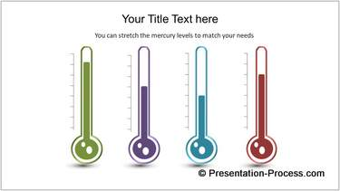 Powerpoint Thermometer Infographic