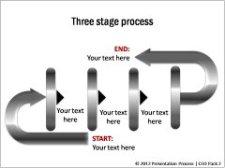 Linear Process Flow diagram CEO Pack 2