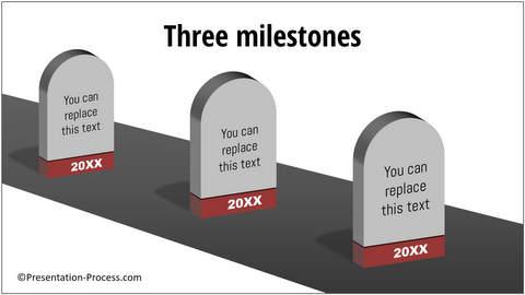 PowerPoint Roadmap With 3D Milestones