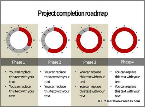 Project Progress Shown with Clock