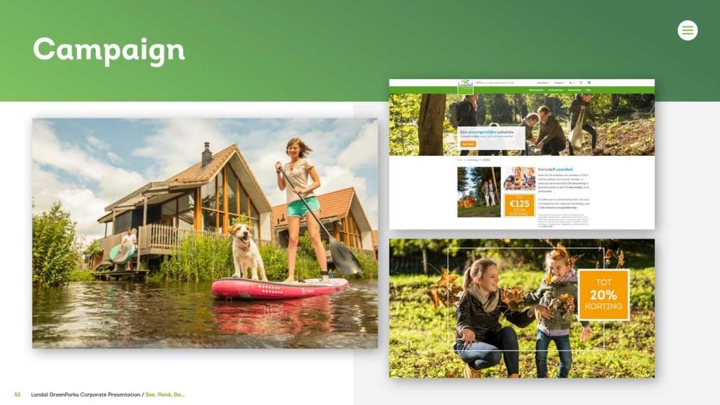 PowerPoint presentatie voor Landal GreenParks