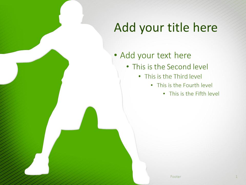 Basketball Powerpoint Template Green Presentationgo