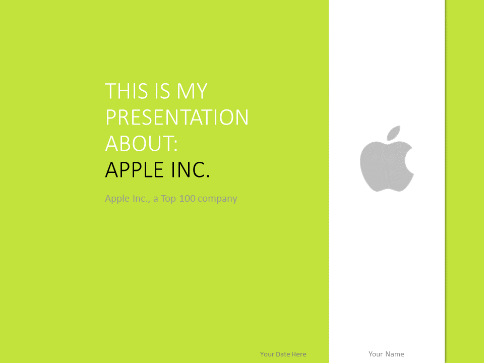 Free Powerpoint Templates About Apple Inc