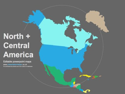 Free Editable Maps of North America Editable Powerpoint vector maps
