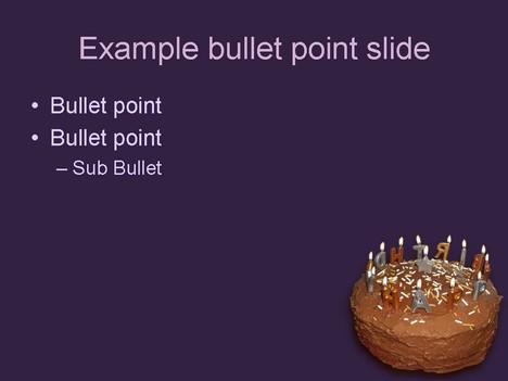 Birthday Cake Template