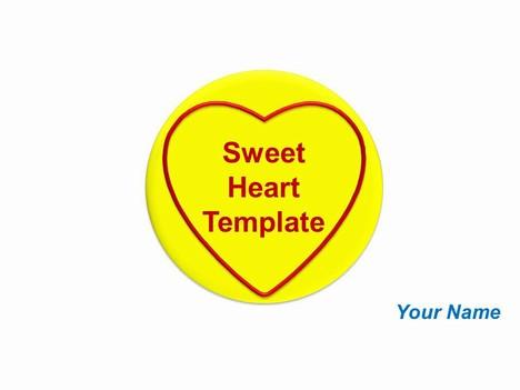 Free Sweet Heart Template