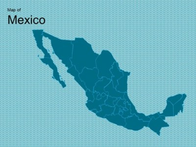 Map of Mexico Template
