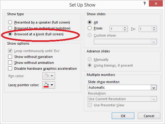 Optimize PowerPoint for Information Screens 3