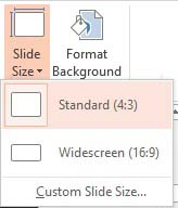 choose 4:3 or 16:9 format