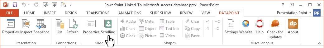 open data scrolling icon
