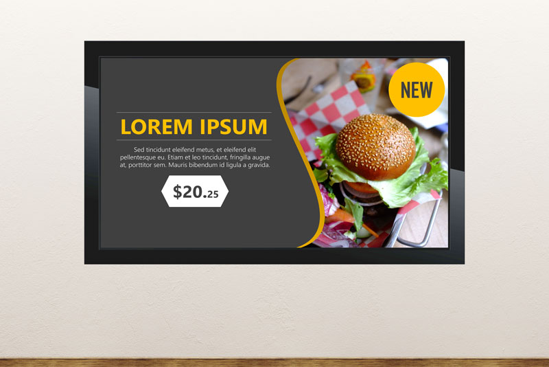Free digital signage powerpoint template for hotel lobby