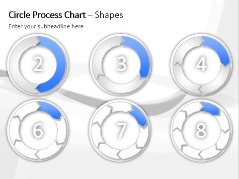 Business report with data driven dynamic chart on a powerpoint slide