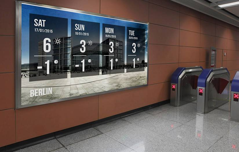 Digital signage software info about