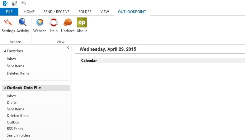 outlookpoint as outlook addon for content management system