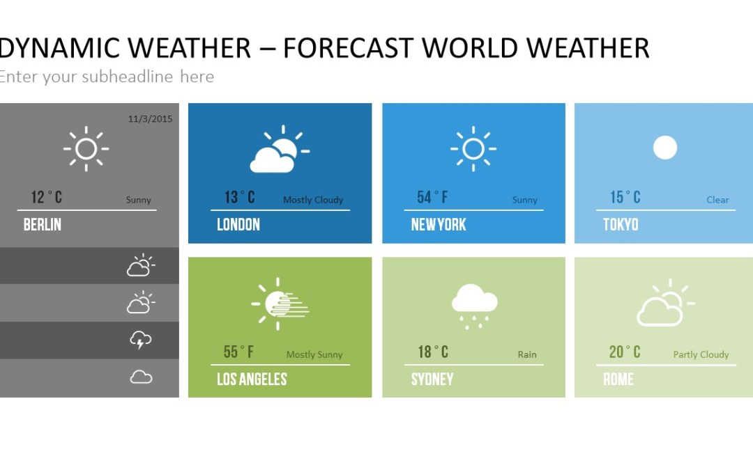 20 Ways to Show Real-Time Weather Information