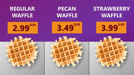 Premium PowerPoint Template for hamburger and take-away restaurants - overview waffles