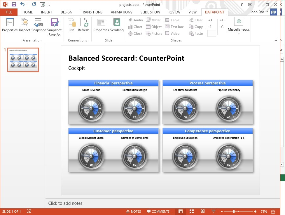 link datapoint presentation