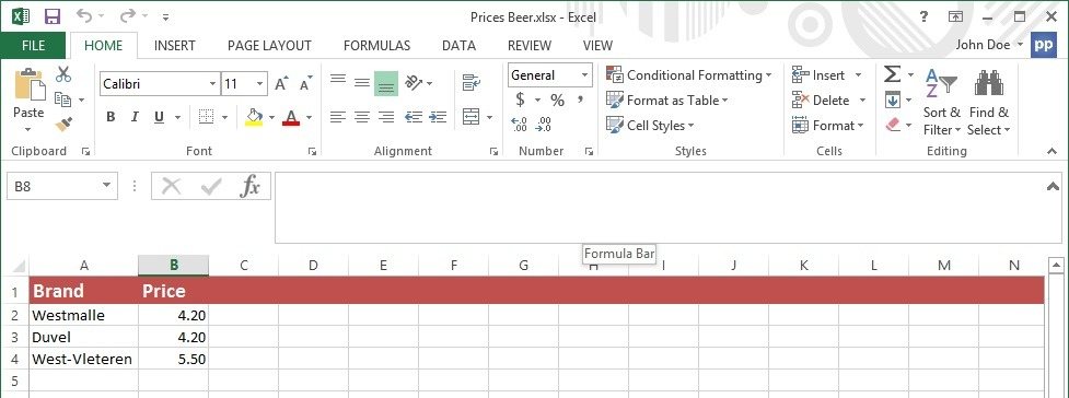 excel data for dynamic text boxes