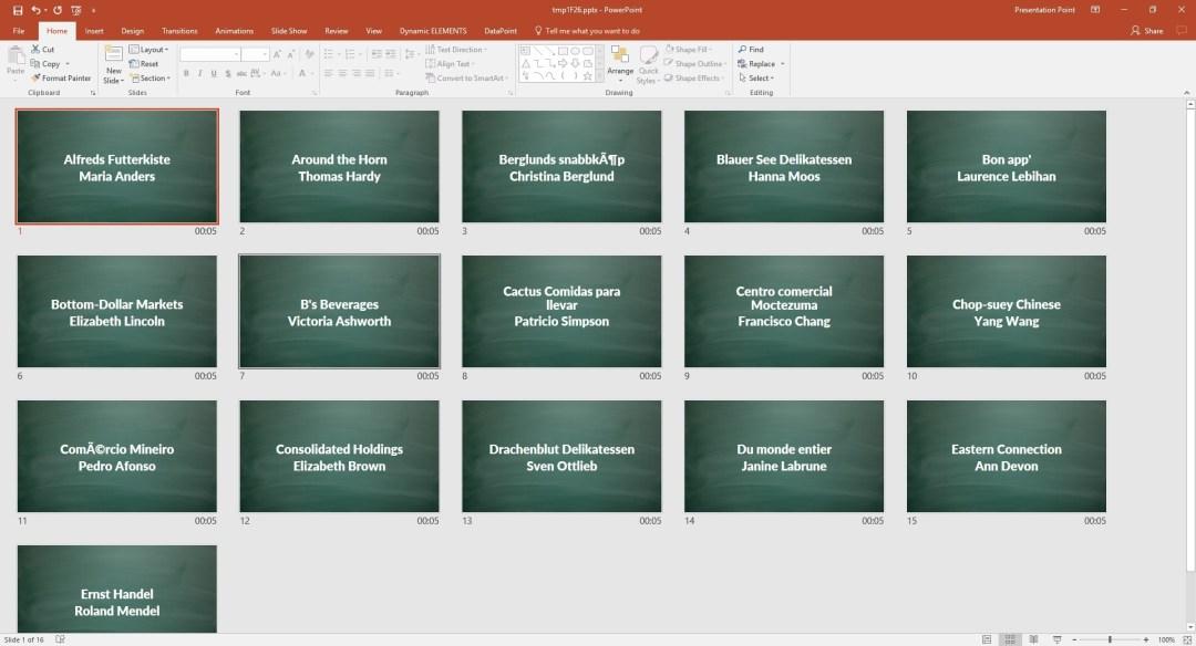 snapshot presentation with all odata data