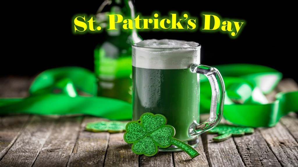 St Patricks Day PowerPoint Templates - green beer