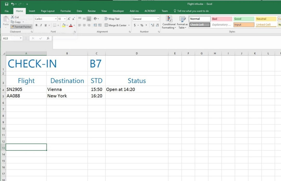 separated data in excel or database or any other structured form