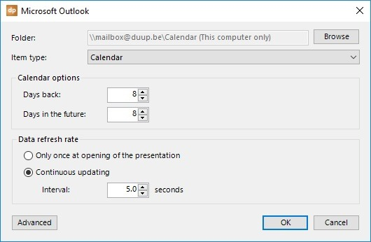 Microsoft Outlook Data Files Support for DataPoint