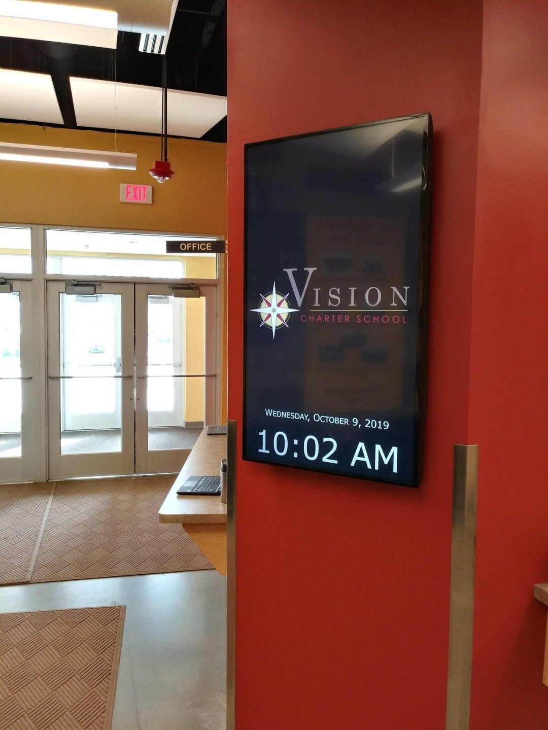school digital signage sample display