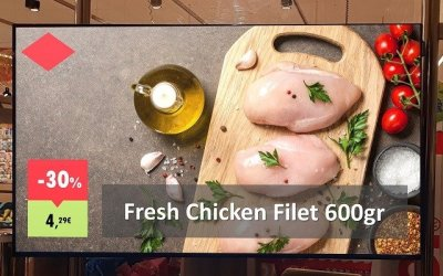 Grocery Store Advertising Screens: Presentation Makeover
