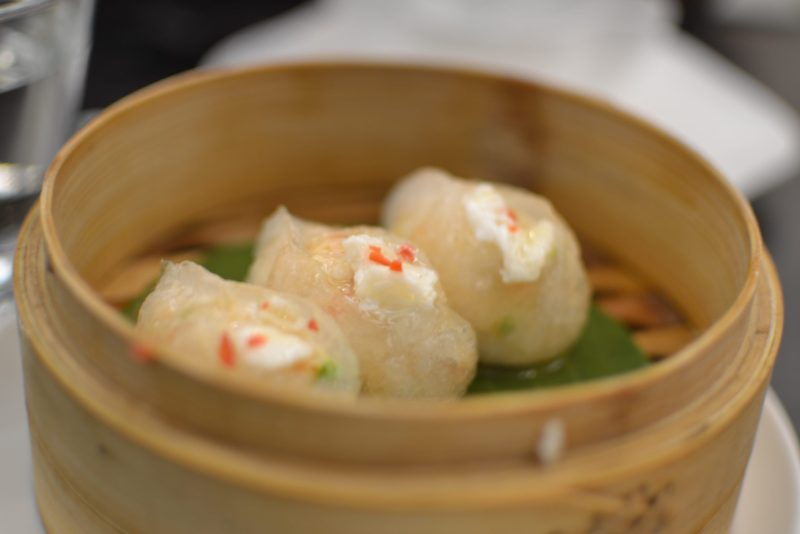 Chicken dumpling with celery and carrot