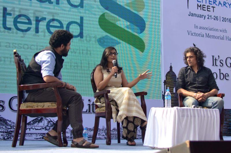 L-R Aditya Vikram Sengupta, Devapriya Roy, Imtiaz Ali