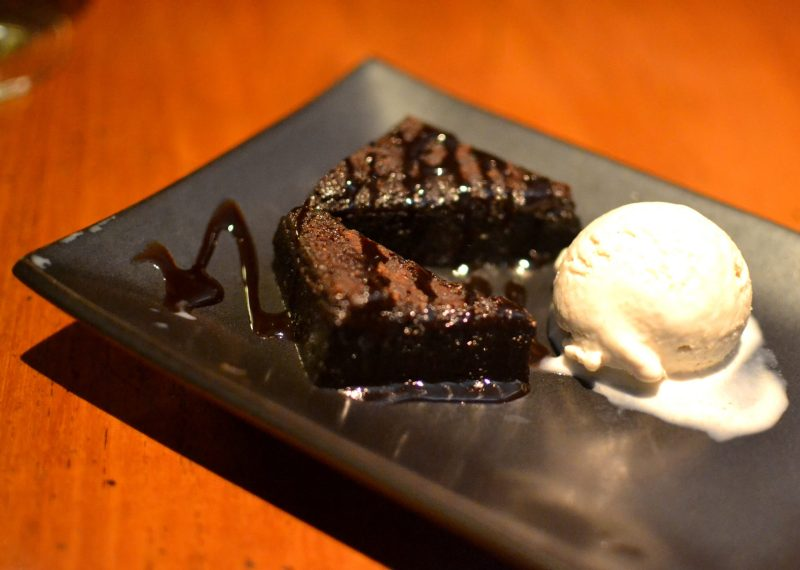 Chocolate Fudge Cake with Sesame Ice Cream