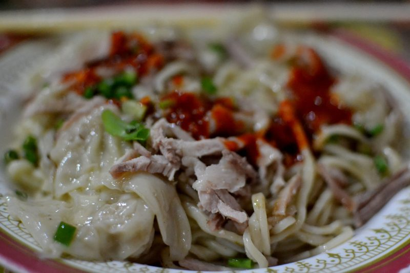 my plate of pork wonton chow after customization