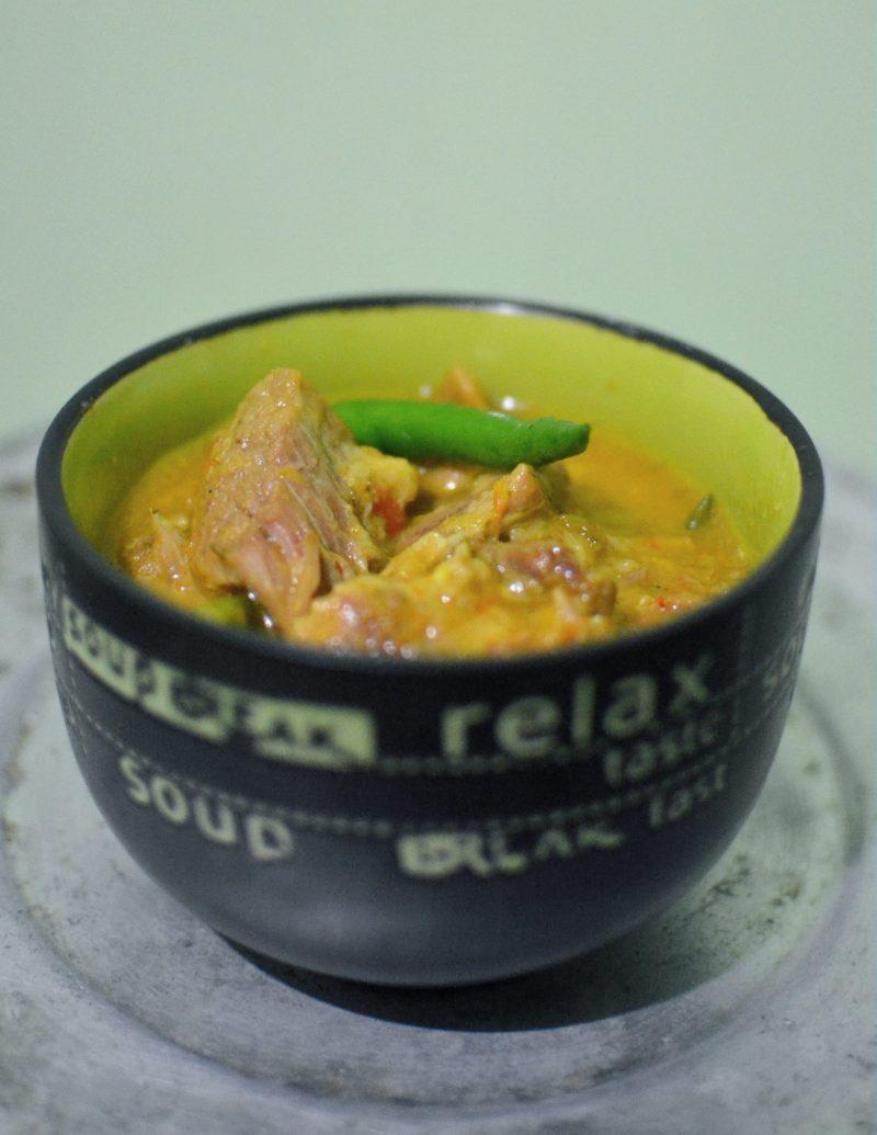 no oil pork curry