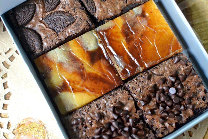 Double Chocolate Chip Fudge, Coffee White Chocolate and Oreo Fudge