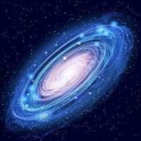 Beautiful Glowing Vector Andromeda Galaxy