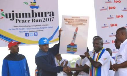 Son Excellence Pierre Nkurunziza Président de la République Burundaise lance officiellement la course pour la paix édition 2017