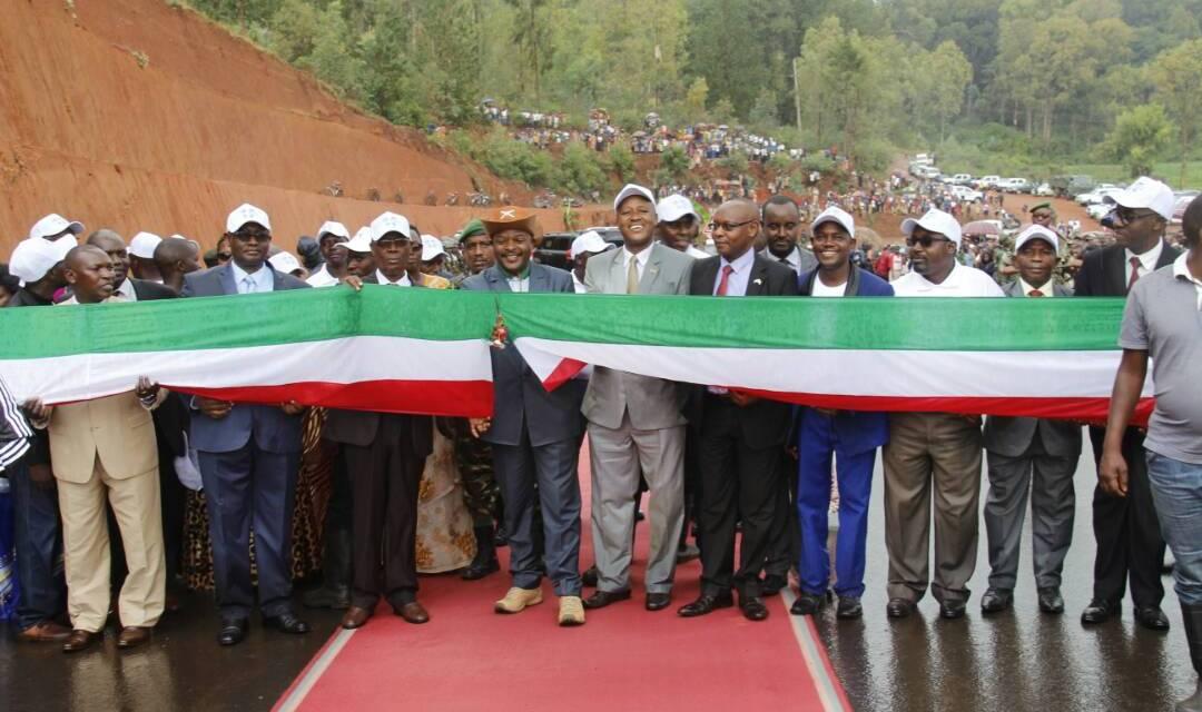 Son Excellence Pierre Nkurunziza inaugure la route nationale n°18