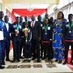 Son Excellence Pierre NKURUNZIZA reçoit l'équipe de football des enfants de la rue ayant remporté la compétition en Russie